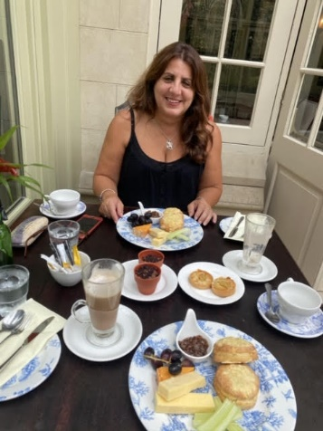 One of our winners enjoying a delicious afternoon tea at Coombe Abbey